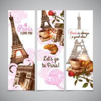 Paris Vertical Banners
