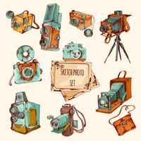 Set di foto colorate di schizzo