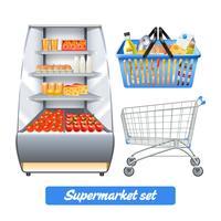 Ensemble réaliste de supermarché