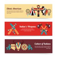 Ethnic design concept banners  vector