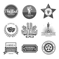Cinema labels collectie zwart