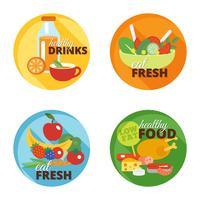 Icono de comer sano plano