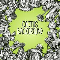 Cornice di schizzo di cactus