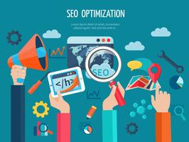 Seo Optimization Concept With Hands