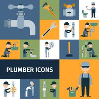 Plombier Icons Set