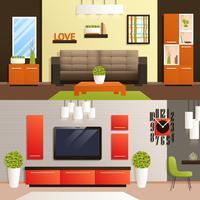 Set soggiorno vettore