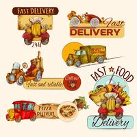 Conjunto de emblemas de entrega