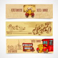 Banners de transporte vintage