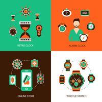 Conjunto de concepto de diseño de reloj