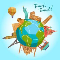 Travel Landmarks Background vector