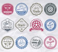 Fietsen emblemen postzegels