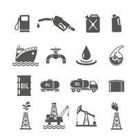 Conjunto de iconos de la industria del petróleo