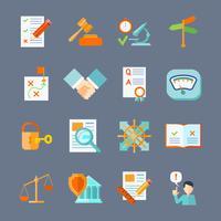 Set di icone di conformità legale