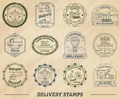 Delivery Stamps Set