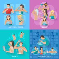 Conjunto plano de higiene