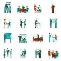Business Training Flat Icons