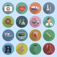 Icono de medicina multicolor plano vector