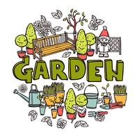 Concetto di progettazione di giardinaggio