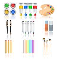 Strumenti di disegno e pittura