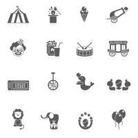 circus pictogram zwart
