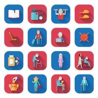 Senior Lifestyle Flat Icons