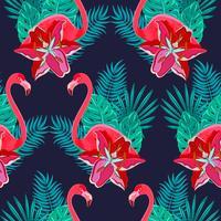 Padrão sem emenda colorido de lírios Flamingo