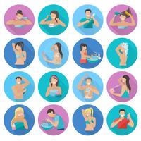 Hygiëne Flat Icons Set