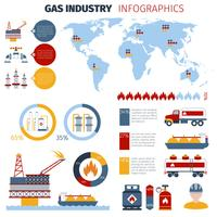 Gas Infographics Set