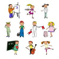 Children professions characters