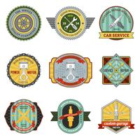Repair Workshop Retro Badges