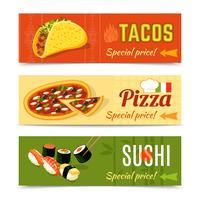 Lebensmittel-Banner eingestellt