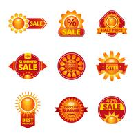 Summer sale labels set vector