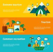 Conjunto de banners turísticos
