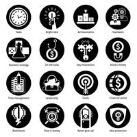 Business Concept Icons Black