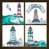 Leuchtturm-Karten-Set