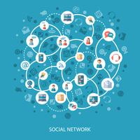 Social networks communication concept vector