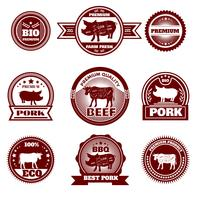 Eco farm butchery emblems