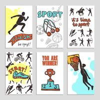 Sport-Skizzen-Karten