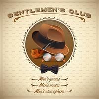 Cartaz dos cavalheiros do vintage