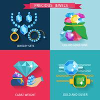 Preziosi gioielli piatti