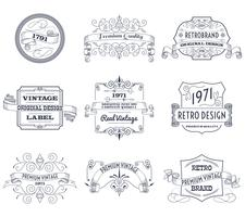 Conjunto de rótulos vintage