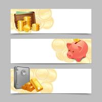 Conjunto de banners financieros