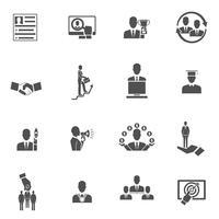 Ensemble d'icônes de carrière
