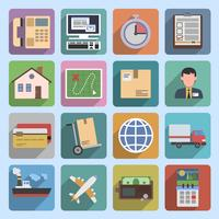 Multicolored logistic icons flat