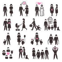 Familien-Icon-Set