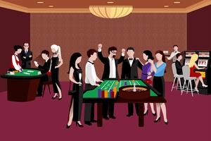 People In Casino Illustration vector