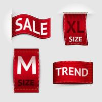Clothing labels set vector