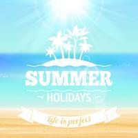 Cartel de vacaciones de verano
