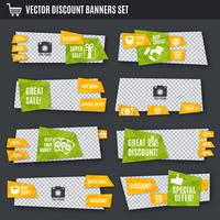 Discount banners set vector