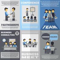 Ensemble d'affiches de réunion
